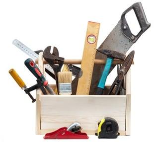 Baukasten und Werkzeuge